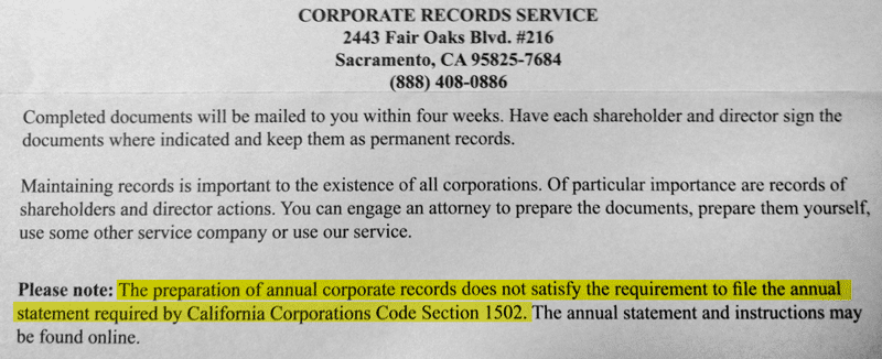 corporate-records-scam-annual-statement-of-information-notice